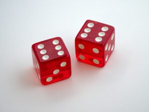 Probability is like throwing the dice.