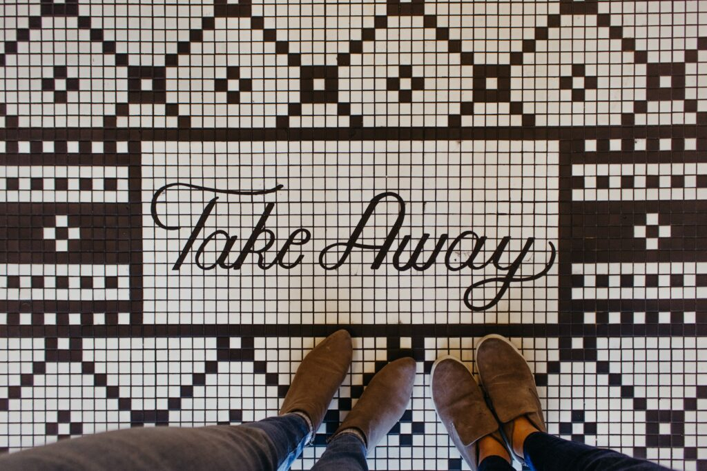 """""""Take"""" goes away from where I am."""