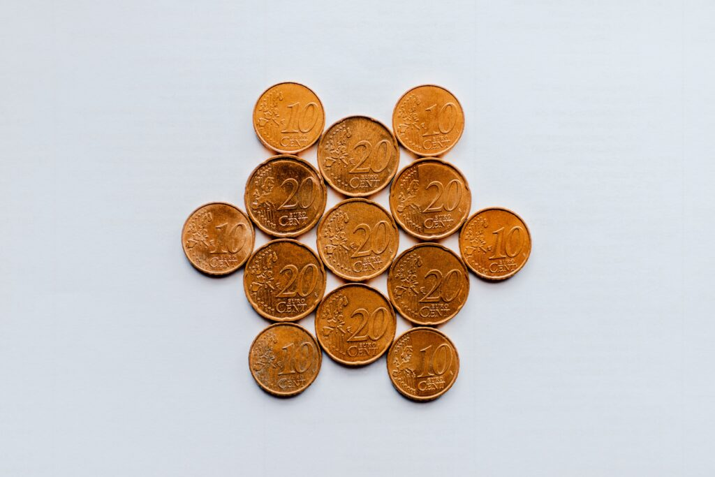 A penny is a cent, 1/100 of a dollar.