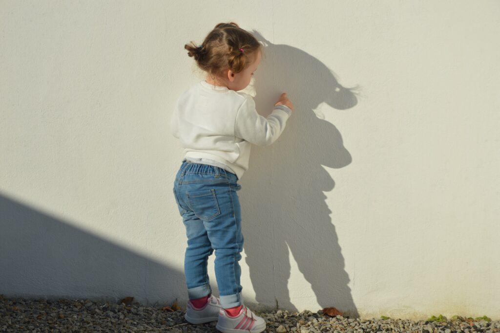 """You're beautiful,"" she tells her shadow. ""You are beautiful."""