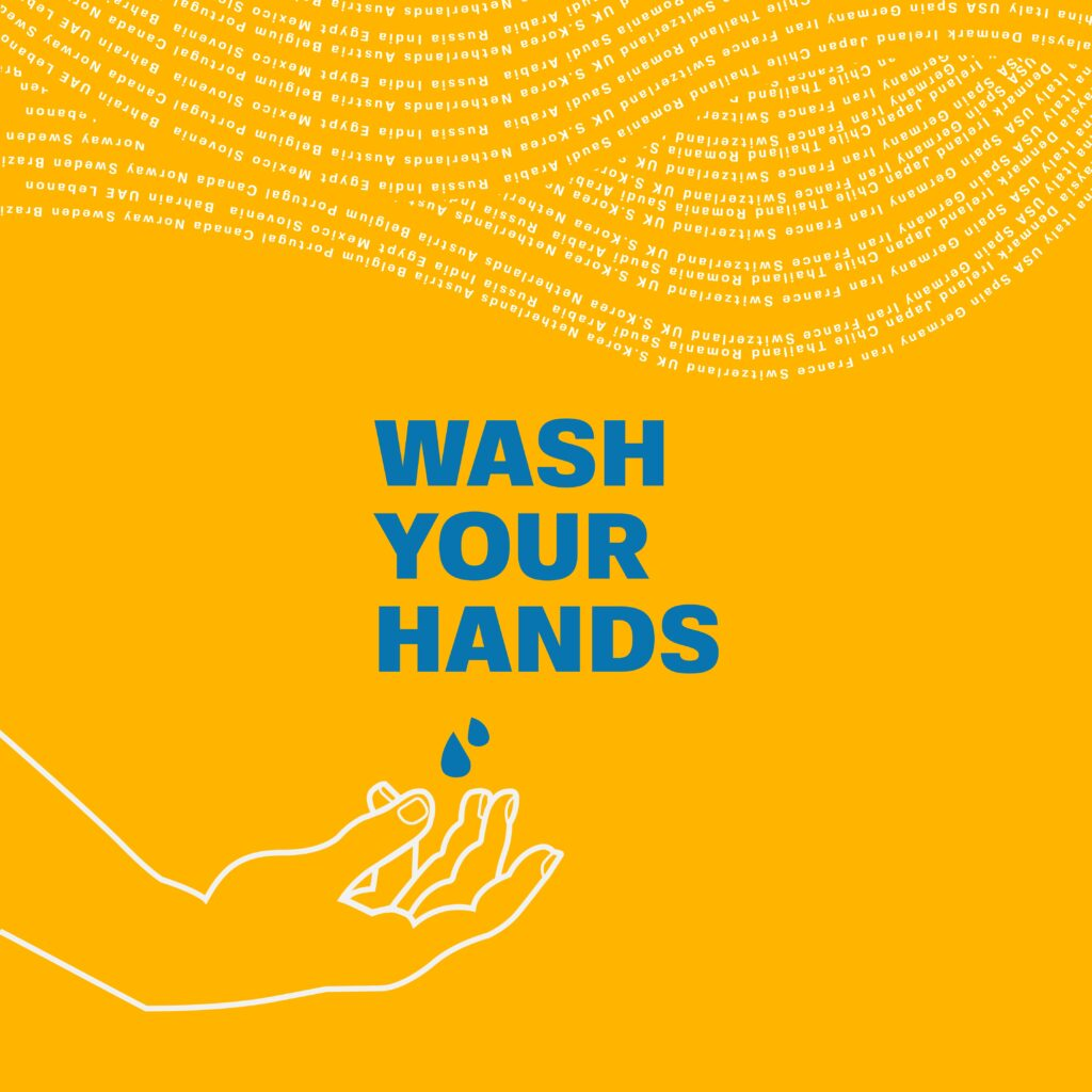"""The UN poster offers good advice during this pandemic: """"Wash your hands."""""""